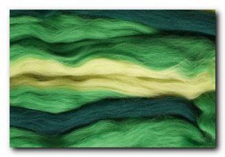Mehrfarbiger Kammzug - grün